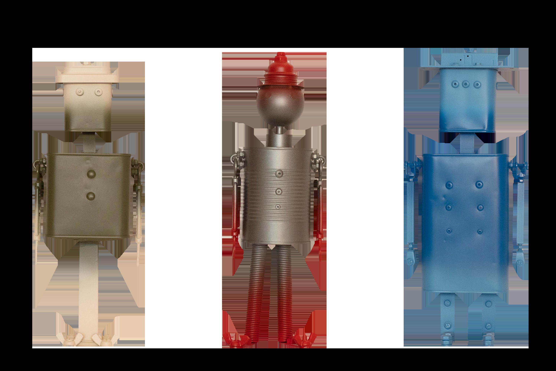 The Tradi robots Jacky Tracy and Jessy