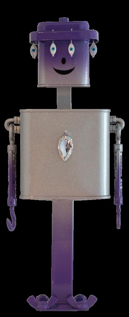 Photo en pied du robot Jacky de la série Bling Bling